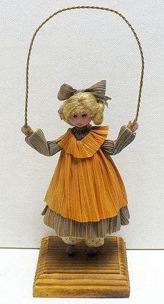 Fabulous Corn Husk Cornhusk Doll with Jump Rope 1990 | eBay