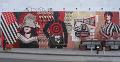 Shepard Fairey's mural on Houston Street, NYC