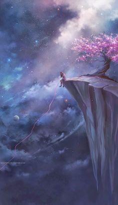 Landscapes & Scenery Digital Art by Niken Anindita - Art Digital - Anime 3d Artwork, Fantasy Artwork, Digital Art Fantasy, Anime Artwork, Anime Art Fantasy, Anime Scenery, Fantasy Landscape, Fantasy Art Landscapes, Cute Wallpapers