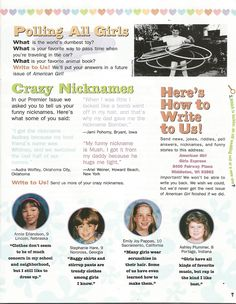 American Girl Magazine - January 1993/February 1993 Issue - Page 8 (Girls Express - Part 5)
