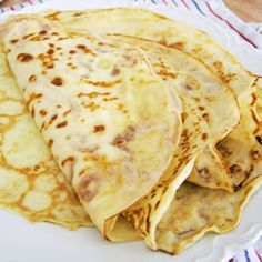 French Crepes: Add 1 tsp vanilla and 1 tsp cinnamon to this for the most divine crepe...just like in Paris.