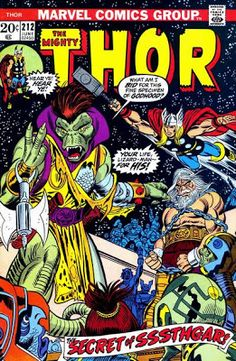 Thor #212. Sssthgar.   #Thor  Auction your comics on http://www.comicbazaar.co.uk