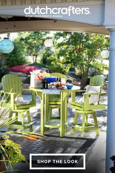 Take those family meals and gatherings outdoors using our luxurious Poly Balcony Bar Table Set with Four Swivel Chairs that is sure to help create lasting memories for you and your loved ones. Featuring four spacious and comfortable Poly Balcony Swivel Bar Chairs and a Poly Outdoor Pub Table that provides plenty of room for any beverages, food, and utensils you and three guests may need while relaxing on the patio. #summer #patiofurniture #outdoordecor #furniture #alfresco #home #design Outdoor Pub Table, Outdoor Dining Furniture, Outdoor Decor, Balcony Bar, Bar Table Sets, Pub Chairs, Pub Set, Lasting Memories, Swivel Chair