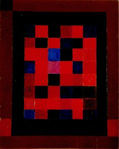 Leuchtendes Rot (bright red) 1955 Oil on fiberboard 72 x 57 cm Museum Ritter, Waldenbuch Museum, Bright, Cubism, Bauhaus, Art Quotes, Paint Colors, Abstract Art, Robots, Minis