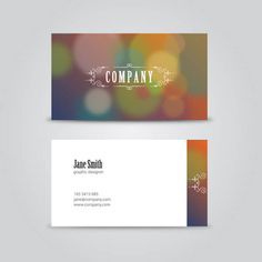 Vintage Business Card Design Template
