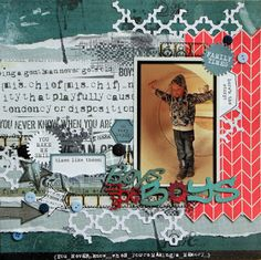 A2Z Scraplets: Boys will be boys #chipboard #scrapbooking #layout #a2zscraplets #cards www.a2zscraplets.com.au