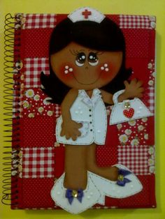 Fofucha enfermera plana para cuaderno http://manualidadesamigas.foroargentina.net/