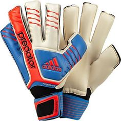 adidas Predator Fingersave Allround - White with Bright Blue and  Infrared... 121.49 Goalie 7441facf58bf