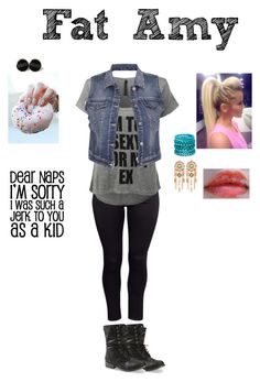 """""""Pitch Perfect bro"""" by pretty-reject ❤ liked on Polyvore featuring H&M, LE3NO, maurices and Ashley Stewart"""
