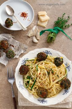 Spaghetti and Spinach Balls - This was the bomb. These spinach meatballs are more savory and rich than I imagined.