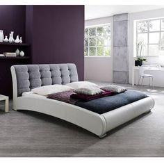 Wade Logan Mallory Upholstered Platform Bed & Reviews | Wayfair Leather Platform Bed, Queen Size Platform Bed, Queen Platform Bed, Upholstered Platform Bed, Leather Bed, Upholstered Beds, White Duvet, Futuristic Furniture, Adjustable Beds