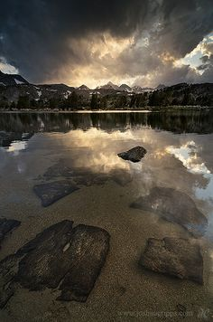Island Pass in the Ansel Adams Wilderness during an afternoon thunderstorm - Sierra Nevada Mountains, USA Go Camping, Outdoor Camping, Camping Hacks, Camping Outdoors, Ansel Adams Wilderness, California Camping, Greatest Adventure, Vacation Trips, Where To Go