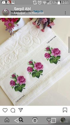 Cross Stitch Borders, Cross Stitch Rose, Small Flowers, Baby Knitting Patterns, Fabric Painting, Hand Embroidery, Counted Cross Stitches, Cross Stitch Love, Embroidery Ideas