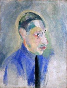 Igor Stravinsky [born Игорь Ѳедоровичъ Стравинскiй] (1882-1971), painting (1918), by Robert Delaunay (1885-1941).