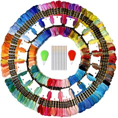 Embroidery Floss 72 Skeins Friendship Bracelets Floss,72 Color Premium Rainbow Embroidery Thread with 10 Pieces Floss Bobbins for Cross Stitch kit and DIY Gift Tool