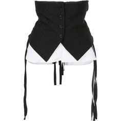 Ann Demeulemeester layer waist belt ($685) ❤ liked on Polyvore featuring accessories, belts, black, ann demeulemeester, ann demeulemeester belt and waist belts