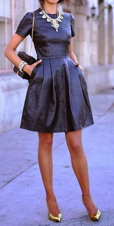 Adorable short sleeve mini dress fashion style