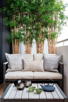 Beautiful Balcony Privacy Canvas