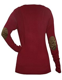 Cielo Women's Knit Silk Soft Cardigan Sweater, V-neck (Large, SW575 Red). As reputation tells, Cielo sweaters are wearable regardless of season. Enhanced with great spandex and cotton composition, they feel unbelievably soft and fit perfectly. Check out other designs and colors by clicking on CIELO at the top of product name. Please refer to size breakdown to ensure your order, thank you!. Elbow patch v-neck button cardigan; This is one of our best sellers for fall. Elbow patches add a…