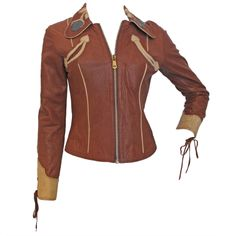 EAST WEST MUSICAL INSTRUMENTS 1970s Rock N Roll Leather Jacket
