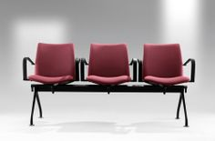 The #Global #chair programme is the result of a balancing act involving #ergonomics, shape and constructive rationalisation. Designed by Josep Lluscà. #red #hospitality #office http://www.eneadesign.com/en/products/by_collection/global/