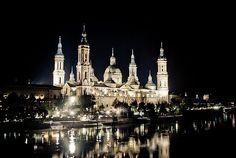 Basilica del Pilar by night - Zaragoza