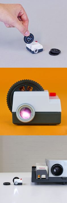 Projecteo mini projector: You choose your nine favorite Instagram pics by signing in through the website. The pictures are printed on a photo wheel, which will be sent to you alongside the itty-bitty projector! Sweet!