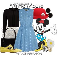 Minnie Mouse by leslieakay on Polyvore featuring Yumi, Phase Eight, Charlotte Russe, Gucci, Carolee, Topshop, vintage, disney and disneybound