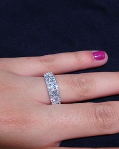 Beautiful 1.25CT diamond band. Top quality diamonds and one of a kind. #Diamonds #ChicagoJewelry #Unique #Rings