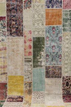 Lauritz.com - Orientalske tæpper - Carpet patchwork, handsydd - SE, Norrköping, Finspångsv.
