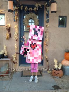 Coolest Elemental Creeper Costume from Minecraft... This website is the Pinterest of costumes