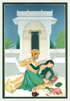 An Indian Summer: Saira Wasim Mughal Miniature Paintings, Mughal Paintings, Indian Art Paintings, Royal Art, Mother Art, Exotic Art, Iranian Art, India Art, Krishna Art