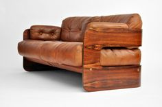Mid-Century wood couch, from Retro Modern Design #furniture #seating #sofa