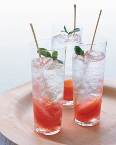 The classic mojito gets a tart update from grapefruit-infused rum. Add splashes of mint syrup and seltzer, and you'll wonder why you ever had them any other way.