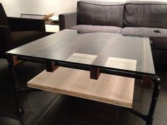 Walnut & Glass Coffee Table by cushdesignstudio on Etsy, $900.00