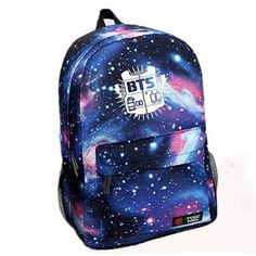 28.11$  Watch here - http://vixdj.justgood.pw/vig/item.php?t=pouv3h228854 - Fashion Laptop Backpack Galaxy Printed BTS School Bag For Teenager Girls Canvas 28.11$
