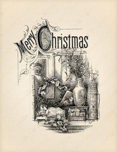 Christmas Journal, Christmas Art, Christmas Stencils, Christmas Patterns, Retro Christmas, Christmas Signs, Christmas Ideas, Christmas Decorations, Etiquette Vintage
