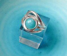 Amazonite Wave Ring Amazonite Ring Turquoise colour by MaryColyer