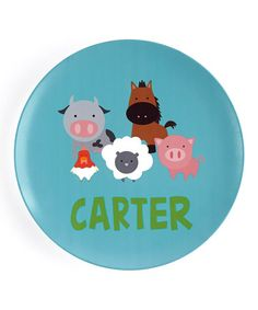 Another great find on #zulily! Barnyard Personalized Plate #zulilyfinds