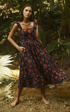 Get inspired and discover Agua by Agua Bendita trunkshow! Shop the latest Agua by Agua Bendita collection at Moda Operandi. Women's Fashion Dresses, Boho Fashion, Casual Dresses, Summer Dresses, Modest Fashion, Retro Fashion, Korean Fashion, Moda Boho, Look Vintage
