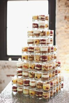 Simple and budget-friendly wedding dessert display - perfect for a modern wedding #wedding