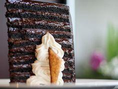 25 Layer Chocolate Cake at Michael Jordan's Steakhouse #steakhouse #dessert #chicago
