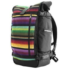 Ethnotek Backpacks featuring front panels with fabrics from all over the world.  Vietnam, Ghana, or as seen here, Guatemala.