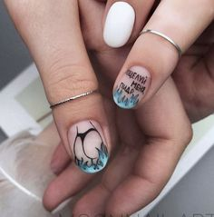 Manicure Nail Designs, Nail Manicure, Nail Art Designs, Judy Nails, Silhouette Nails, Butterfly Nail Art, Exotic Nails, Nail Envy, Glam Nails