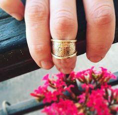 midi anillo de bronce texturado   bronze midi ring
