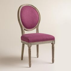 Raspberry Paige Round Back Dining Chairs Set of 2