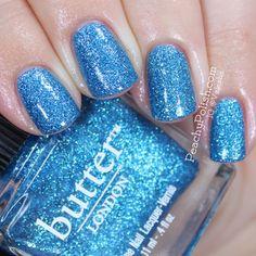 Summer nails: BLUE #DIY #SummerNails Butter London Scallywag via Peachy Polish