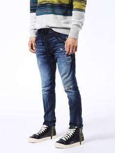 Diesel Krooley Cb Joggjeans Carrot In Blue Jeans Blue Denim, Blue Jeans, Men's Jeans, Jogg Jeans, Diesel Jeans, Vintage Looks, Black And Grey, Fitness Models, Skinny Jeans