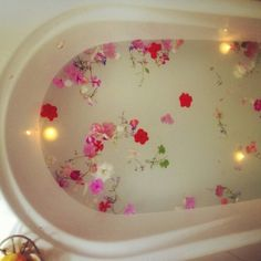 Flowers. water. candles. 3...2...1...relax