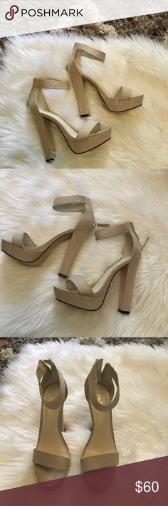 ALDO heels ALDO light tan heels Aldo Shoes Sandals